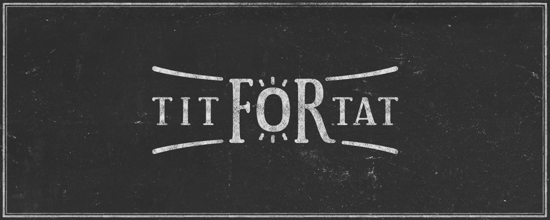 Création logo du groupe de musique lyonnais Tit For Tat