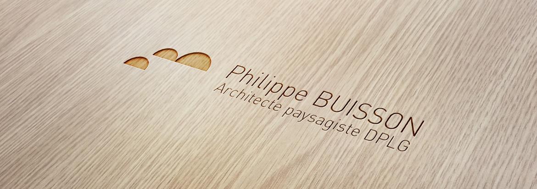 Création Identité visuelle Philippe Buisson Architecte Paysagiste