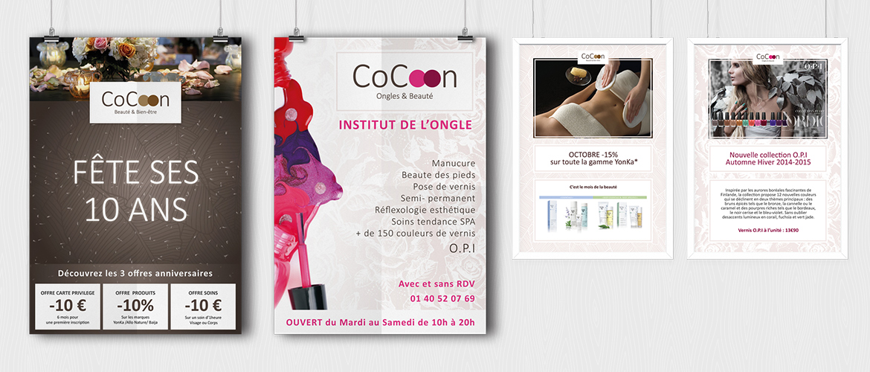 Création affiche A1 et promo A4 institut de Beauté CoCoon
