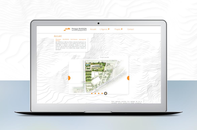 Création du site internet Philippe Buisson Architecte Paysagiste